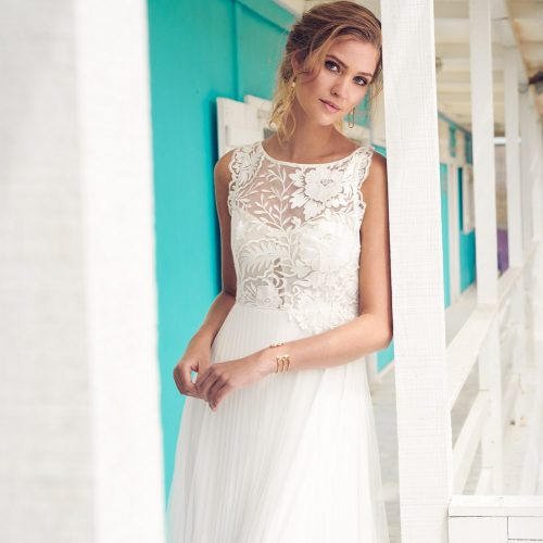 Hibiscus bridal dress